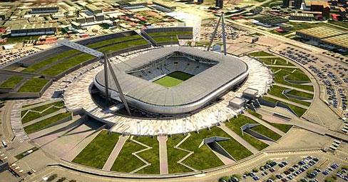 Вид на новый стадион ювентуса в турине