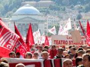Генеральная забастовка профсоюзов Италии в Турине