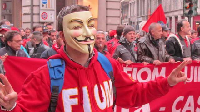 Забастовка италавиакосмос в Турине Италия