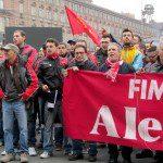 Забастовка авиазавода в Турине Италия