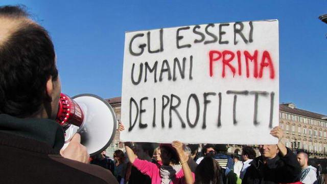 Парад возмущенных в Турине