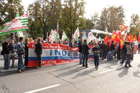 Фабрика Индезит в Италии бастует