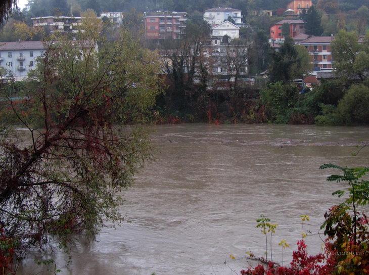 Река По в Турине вышла из берегов