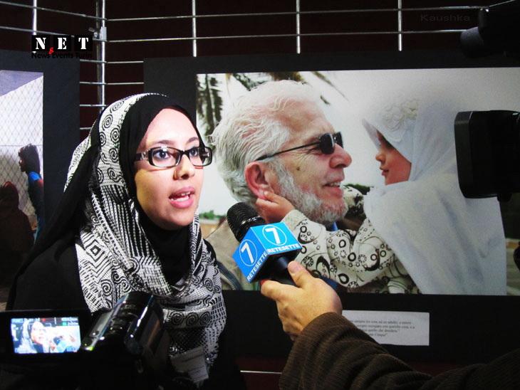 Мусульманская женщина в Турине Ита