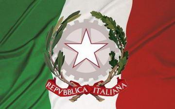 Итальянский флаг итальянской республики