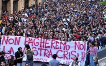 Крупные манифестации в Италии Турин