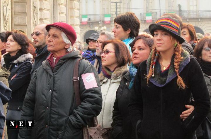 Femminista Torino in piazza Castello