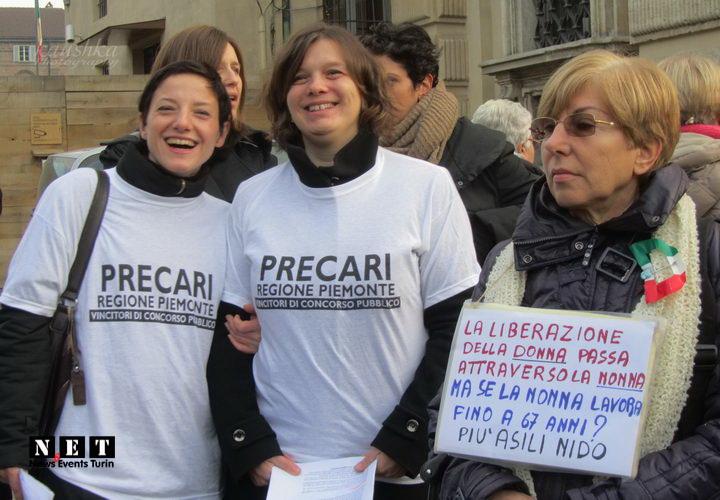 Итальянки феминистки в Турине