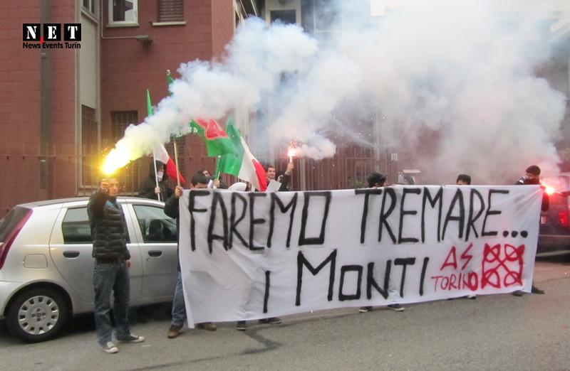Студенты Турина против премьер министра Монти в Риме