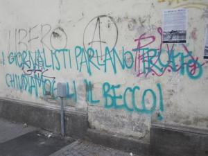 Надписи на стенах Турина