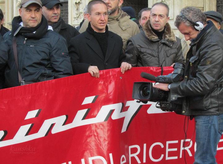 Sergio Pininfarina sciopero protesta