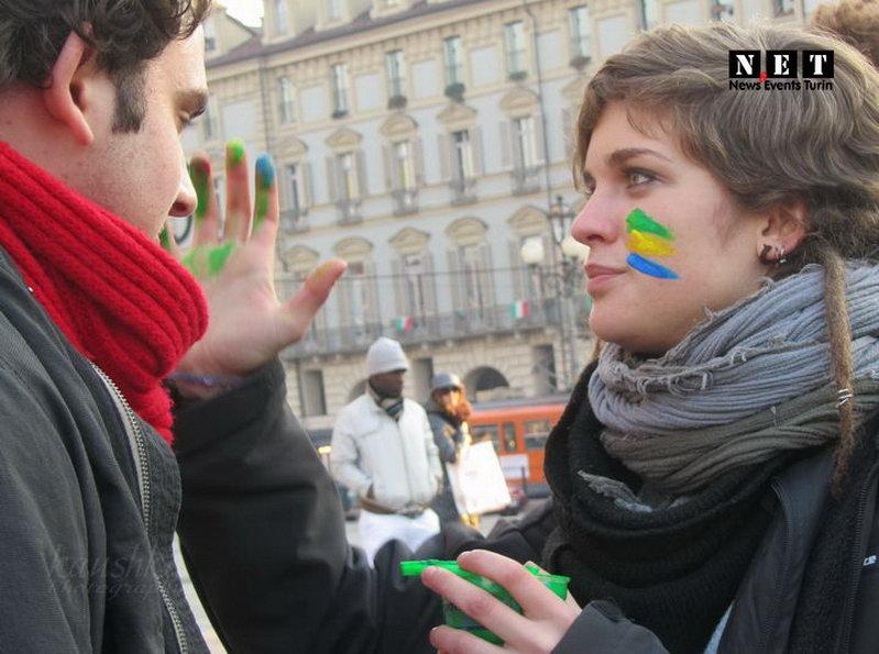 Студенты итальянцы в турине италия