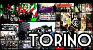 Протест студентов в городе Турин Италия Пьемонт