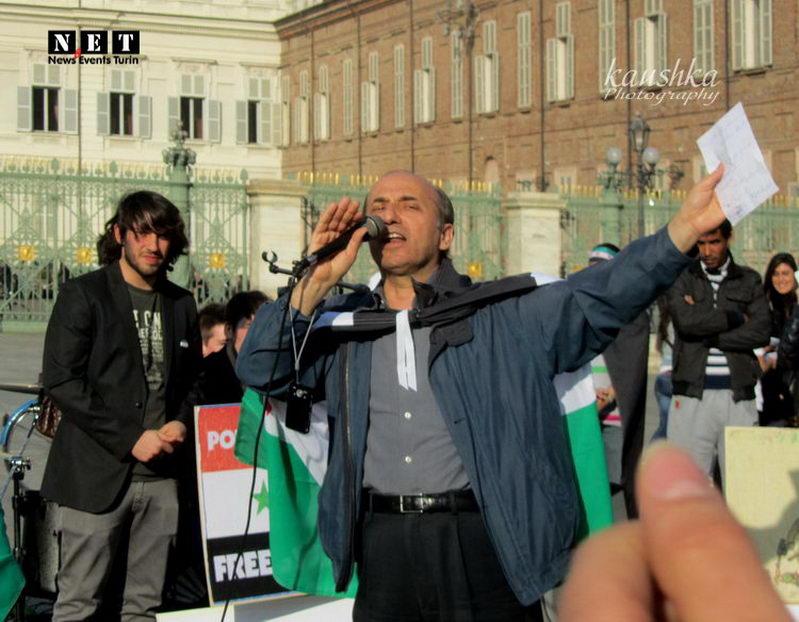 Сирия крик мира в Турине