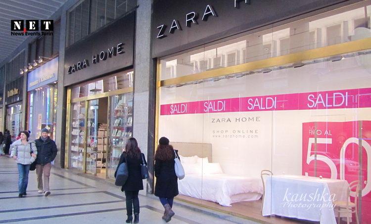 Магазин Zara в Турине