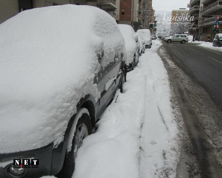 Невероятный снегопад в Турине