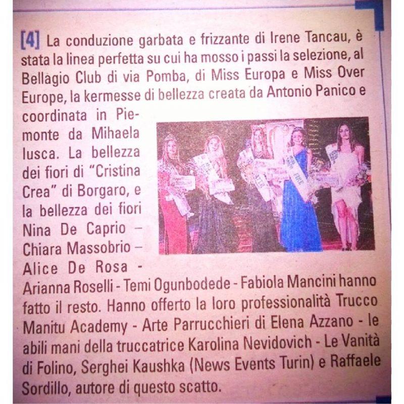 Русский фотограф из Турина в итальянских газетах Kaushka Potographer