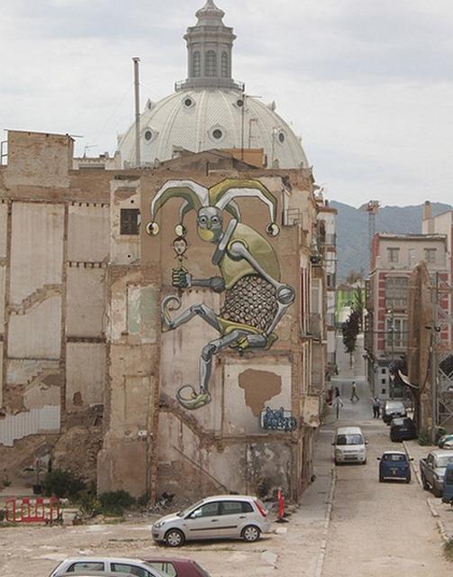 Pixel Pancho Турин Италия Арт граффити в Европе