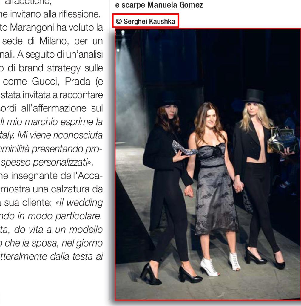Kaushka Photography Torino Magazine pagina 163 О нас пишут итальянские СМИ