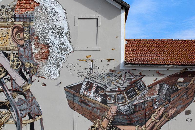 Креативный художник Турина Арт Стриит граффити Арт в Европе