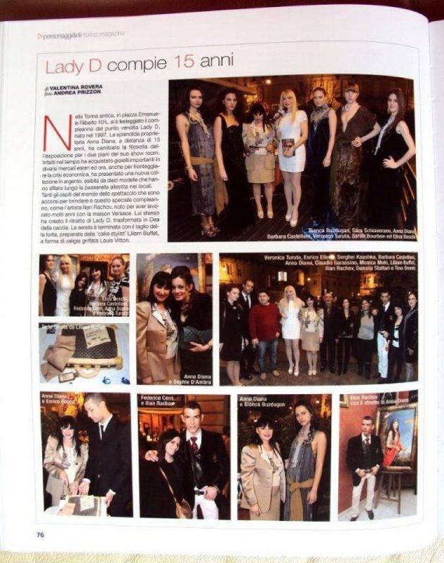 Torino Magazine - anna diana 2 О нас пишут итальянские СМИ Новости Турина