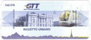 Билет для проезда в Турине на автобусе, метро.