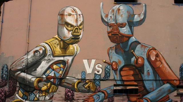 Арт граффити в Европе, Турин Италия.