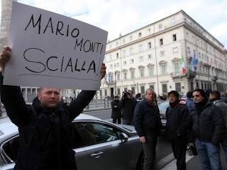 Забастовка такси Турин Италия