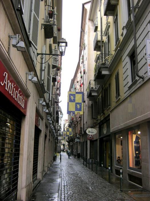 Узкие улочки Турина