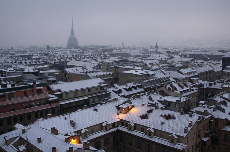 Вид города из гостиницы в Турине