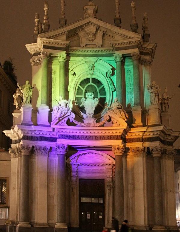 Художественные огни на площади Сан Карло