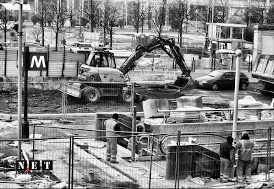 Строительство станции метро Линготто в Турине