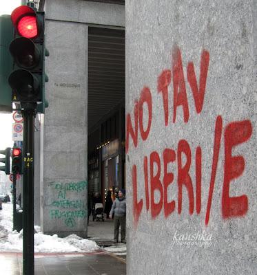 Центр Турина акты вандализма