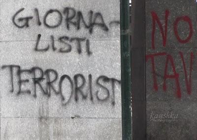 Надписи на элитных улицах Турина