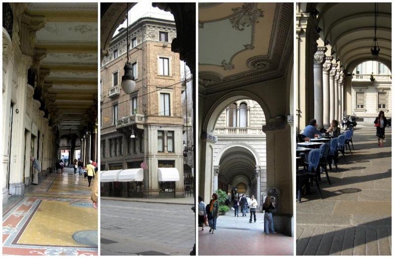 Знаменитые портики Турина Италия