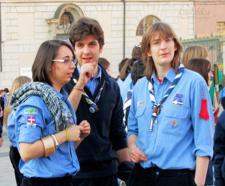 Американский скаут в Турине