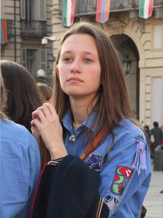 Итальянская девочка скаут События Турина март 2012