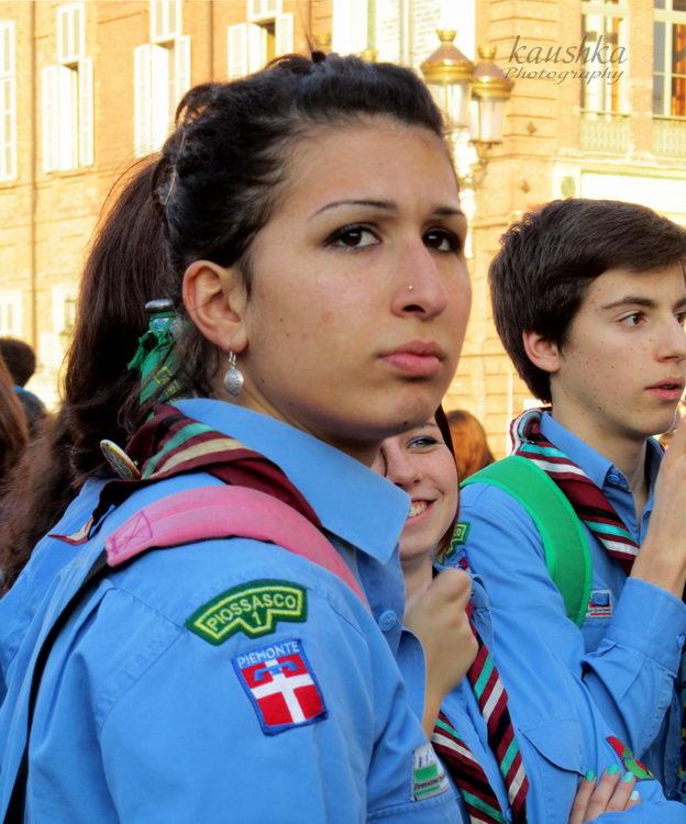 Девушка скаут Италия Турин