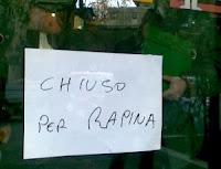 Культурное ограбление банка в Италии