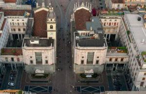 Площадь CLN в Турине.История площади двух фонтанов