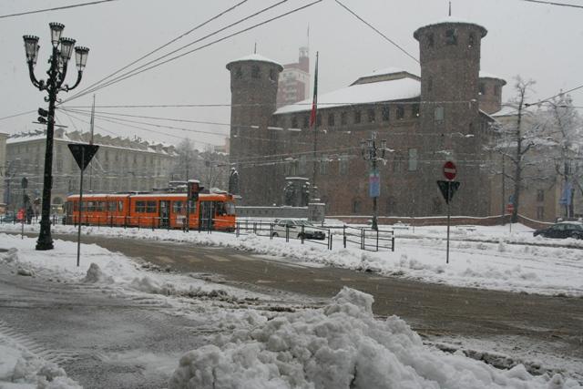 Dvorets Madama v snegu Turin