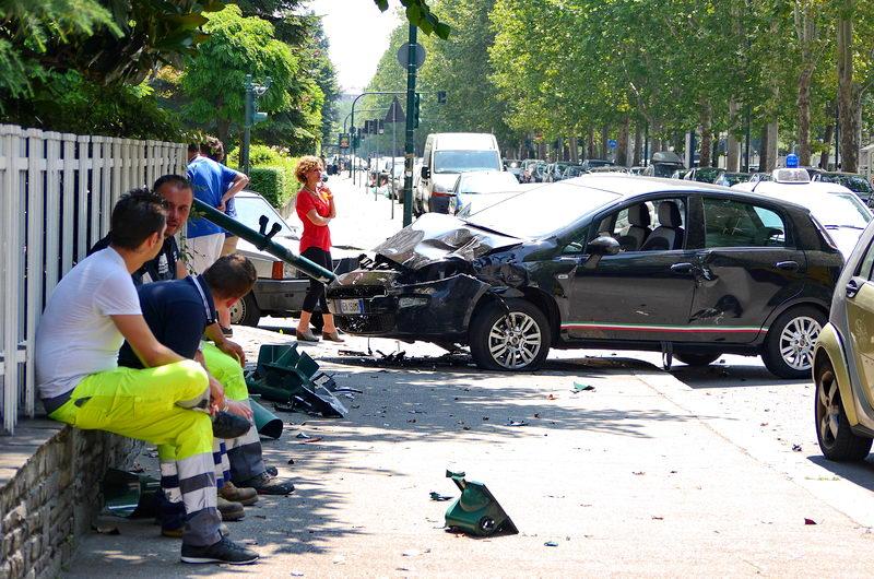 Автомобильные происшествия в Турине Италия