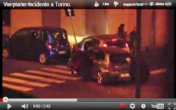 В турине столкнулись два автомобиля