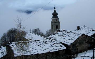 Заброшенная деревушка в Альпах Турин
