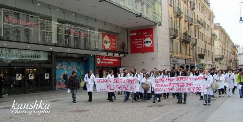 Манифестация медиков Турина