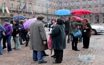 Забастовка профсоюзов в Турине Италия