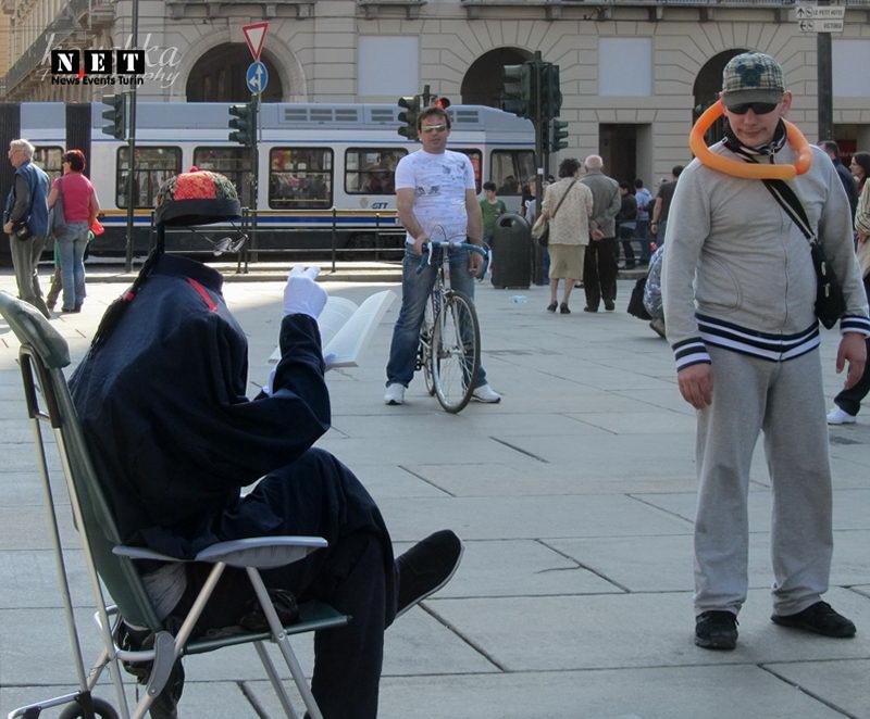 В Италии человек невидимка