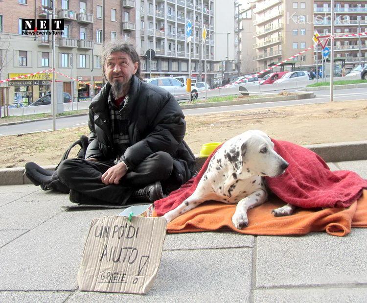 Бомж с собакой в Италии