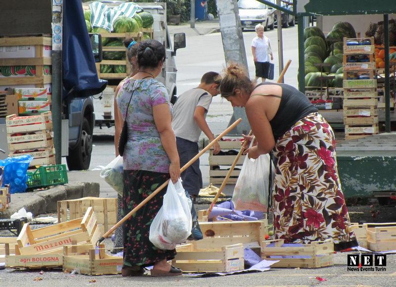 Цыгане на рынке турина