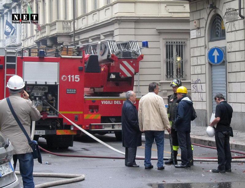 Пожарная охрана Турина после пожара